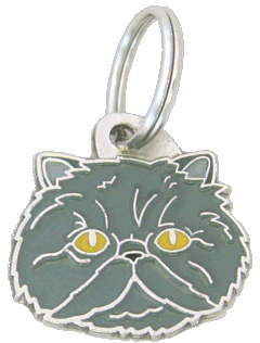 Persian cat blue - pet ID tag, dog ID tags, pet tags, personalized pet tags MjavHov - engraved pet tags online